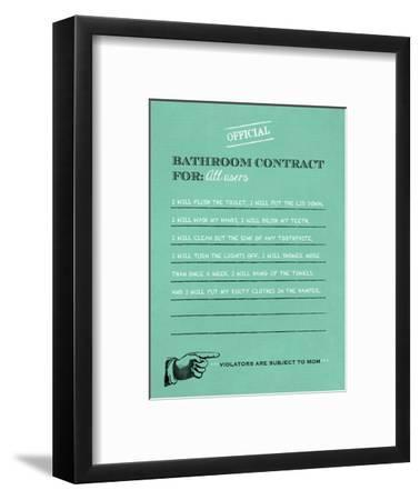 Bathroom Contract-Longfellow Designs-Framed Art Print
