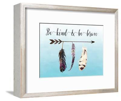Be Kind and Be Brave-Tara Moss-Framed Art Print