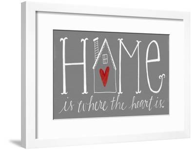 Home is Where the Heart Is-Katie Doucette-Framed Art Print
