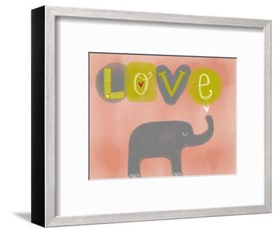 Elephant Love-Katie Doucette-Framed Art Print