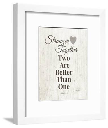Stronger Together-Linda Woods-Framed Art Print