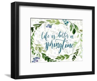 Life is Better in Springtime-Tara Moss-Framed Art Print