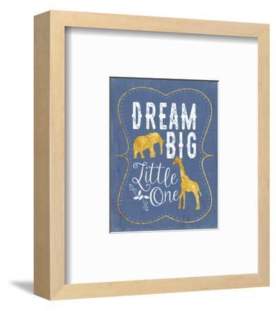 Dream Big - Blue-Tammy Apple-Framed Art Print
