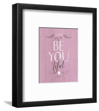 Be Youtiful - Lilac-Tammy Apple-Framed Art Print