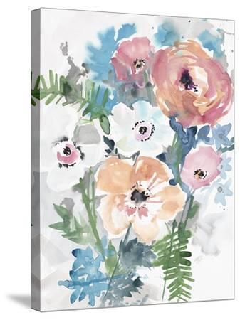 Bright Bouquet 3-Megan Swartz-Stretched Canvas Print