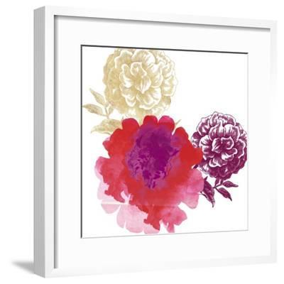 Happy Garden Reds-Bella Dos Santos-Framed Art Print
