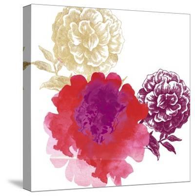 Happy Garden Reds-Bella Dos Santos-Stretched Canvas Print