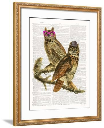 Whoo Are You Looking At ?-Christopher James-Framed Art Print