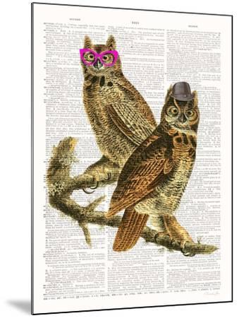 Whoo Are You Looking At ?-Christopher James-Mounted Art Print