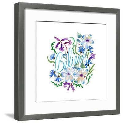Believe, Enchanted Garden-Esther Bley-Framed Art Print