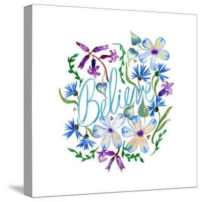 Believe, Enchanted Garden-Esther Bley-Stretched Canvas Print