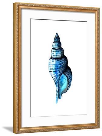 Sea Blue Shell-Crystal Smith-Framed Art Print