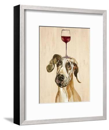 Be Careful Of The Glass of Wine-Jin Jing-Framed Art Print