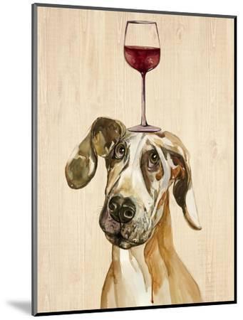 Be Careful Of The Glass of Wine-Jin Jing-Mounted Art Print