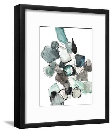 Geometric Pools-Lora Gold-Framed Art Print