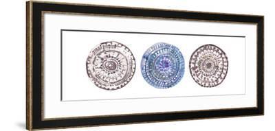 Watercolor Mandalas 2-Lora Gold-Framed Art Print