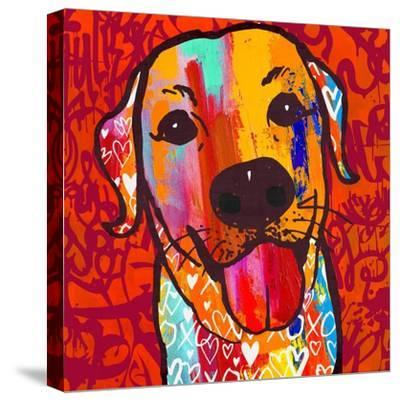 Happiest Lab!-Evangeline Taylor-Stretched Canvas Print
