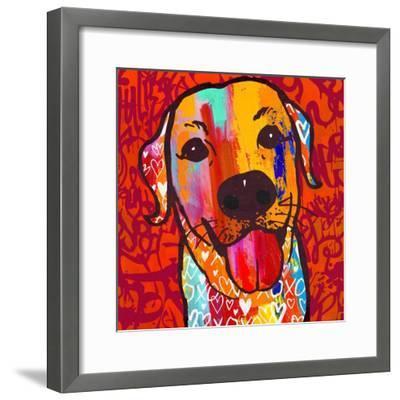 Happiest Lab!-Evangeline Taylor-Framed Art Print