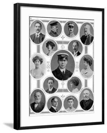 On Board the Titanic: Notable Passengers--Framed Photographic Print