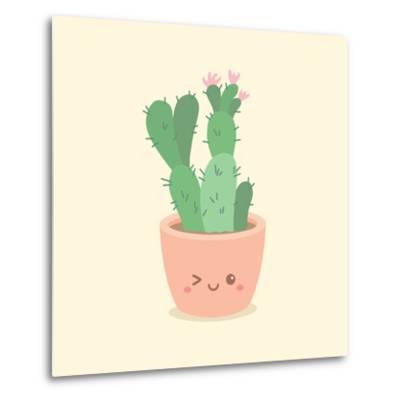 Cute_Cactus_5-anitnov-Metal Print
