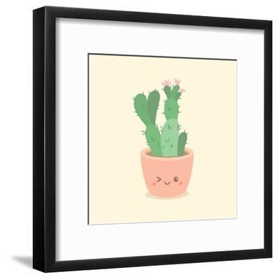 Cute_Cactus_5-anitnov-Framed Art Print