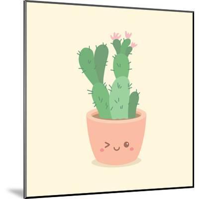 Cute_Cactus_5-anitnov-Mounted Art Print