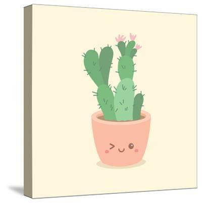 Cute_Cactus_5-anitnov-Stretched Canvas Print