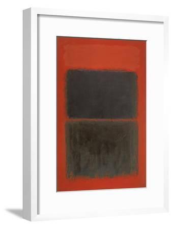 Light Red Over Black-Mark Rothko-Framed Giclee Print