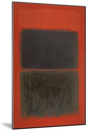 Light Red Over Black-Mark Rothko-Mounted Giclee Print