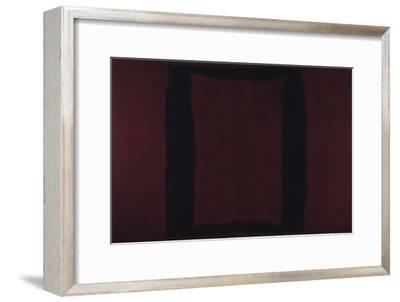 Mural, Section 3 {Black on Maroon} [Seagram Mural]-Mark Rothko-Framed Premium Giclee Print