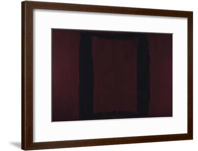 Mural, Section 3 {Black on Maroon} [Seagram Mural]-Mark Rothko-Framed Giclee Print