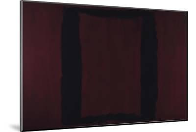Mural, Section 3 {Black on Maroon} [Seagram Mural]-Mark Rothko-Mounted Giclee Print