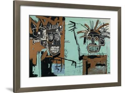 Untitled (Two Heads on Gold) 1982-Jean-Michel Basquiat-Framed Giclee Print