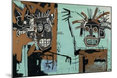 Untitled (Two Heads on Gold) 1982-Jean-Michel Basquiat-Mounted Giclee Print
