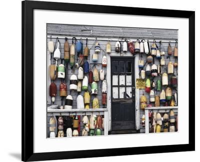 USA, Connecticut, Niantic, Fishing Shack-Walter Bibikow-Framed Photographic Print