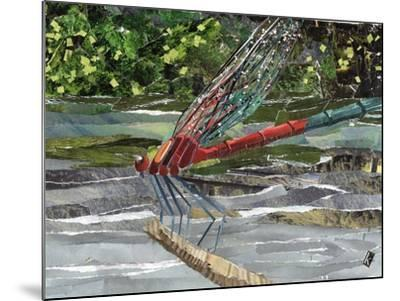Red Dragonfly-Kirstie Adamson-Mounted Giclee Print