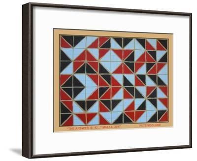 Answer Is 42 - Malta, 2017-Peter McClure-Framed Giclee Print