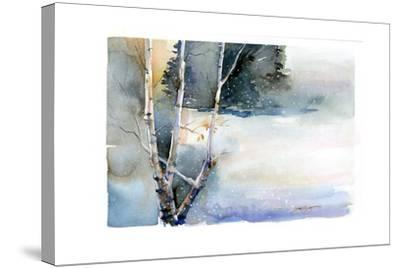 Birch in Winter, 2015-John Keeling-Stretched Canvas Print
