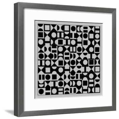 Basic Derivative, 2017, Simulated Woodblock-Peter McClure-Framed Giclee Print
