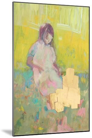Girl and Building Blocks, 2016-David McConochie-Mounted Giclee Print