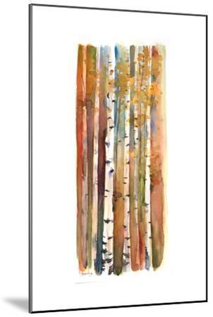 Birches in Autumn, 2013-John Keeling-Mounted Giclee Print