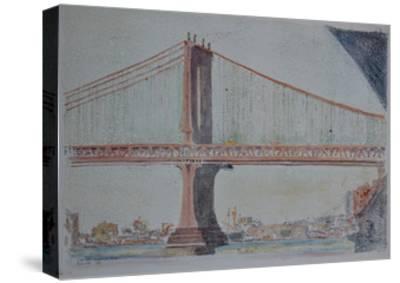 Manhattan Bridge, 1999-Anthony Butera-Stretched Canvas Print