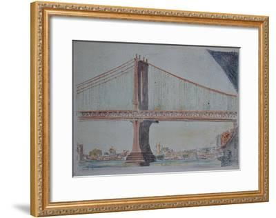 Manhattan Bridge, 1999-Anthony Butera-Framed Giclee Print