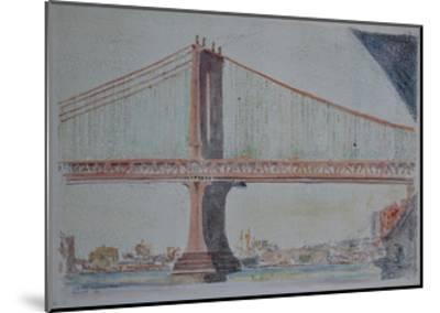Manhattan Bridge, 1999-Anthony Butera-Mounted Giclee Print
