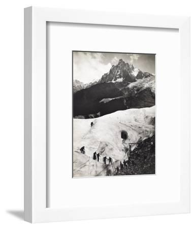 Glacier Des Bossons, Chamonix Valley, France. Tourists Climb Glacier-S. G. Wehrli-Framed Photographic Print