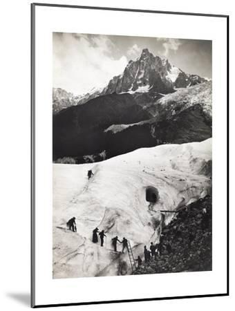 Glacier Des Bossons, Chamonix Valley, France. Tourists Climb Glacier-S. G. Wehrli-Mounted Photographic Print