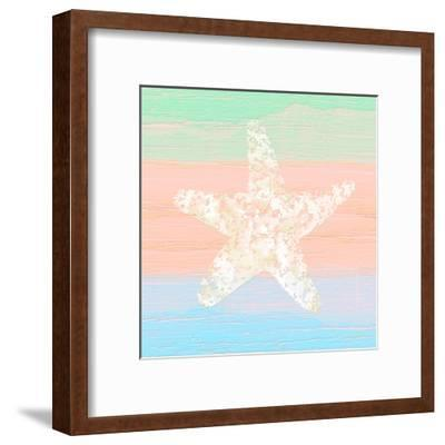 Pastel Coastal 3-Alonza Saunders-Framed Art Print