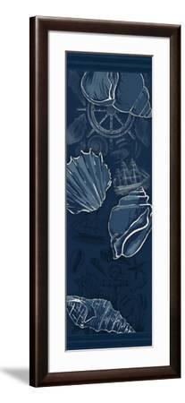 Deeper Blue-Jace Grey-Framed Art Print