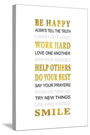 Be Happy-Jace Grey-Stretched Canvas Print
