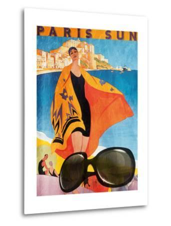 Paris Sun-Jace Grey-Metal Print